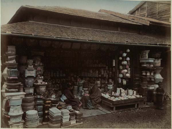 Tableware store, Edo era